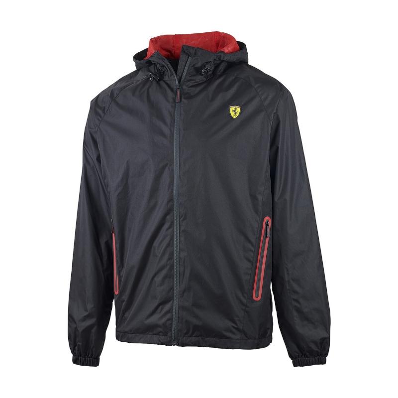 Ferrari pánská bunda jarní Windbreaker black F1 Team Branded 5100517-100-220 - doprava zdarma