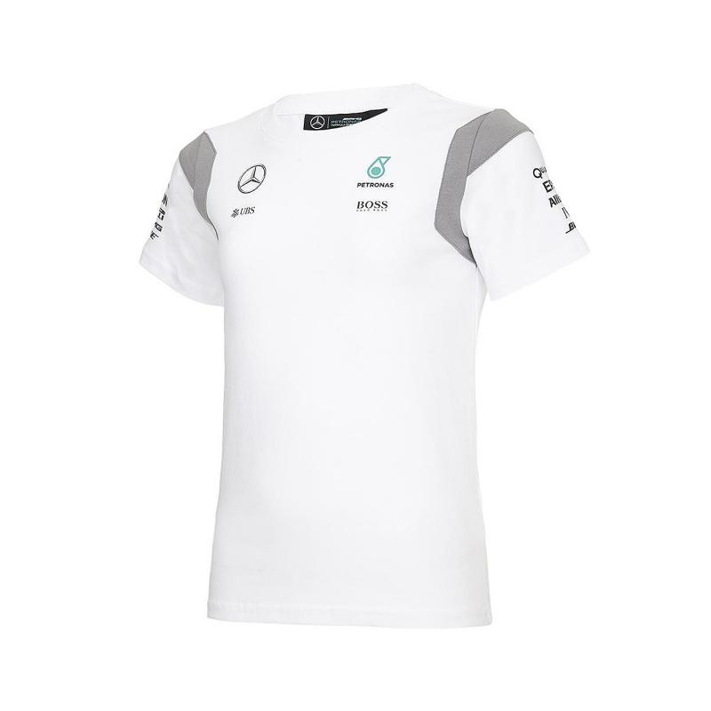 Mercedes AMG Petronas dětské tričko white Team F1 2016 Branded 141161075200104