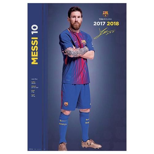 FC Barcelona plakát 2017-18 Messi 61 x 91,5 cm C-334469