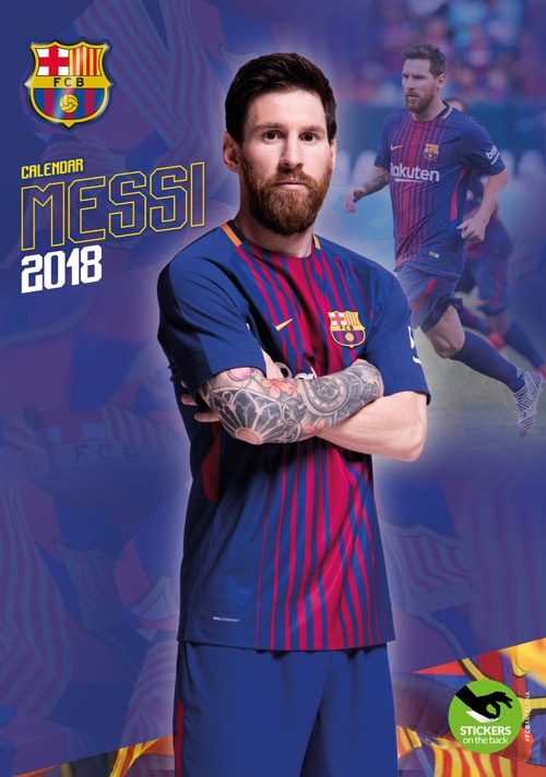 Lionel Messi Kalend 2018 29 X 42cm 12 Samolepek