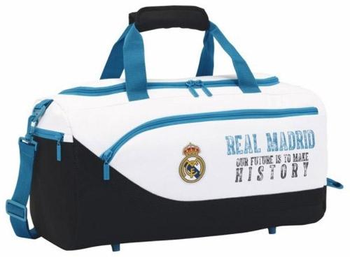Real madrid sportovní taška whiteblack history C-335728
