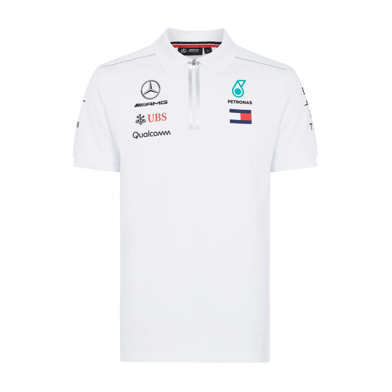 bbbd5f7bbb45 Mercedes AMG Petronas pánské polo tričko white F1 Team 2018 - FAN ...