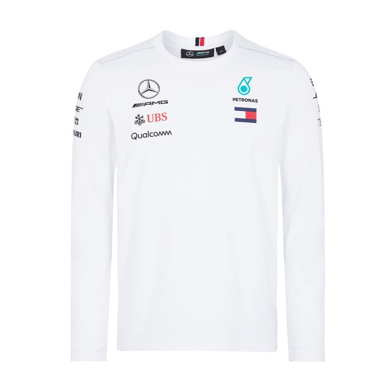 2e062f547ff9 Mercedes AMG Petronas pánské tričko Longsleeve white F1 Team 2018 ...