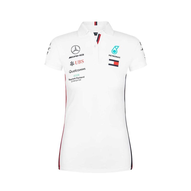 6ef7f91a3994 Mercedes AMG Petronas dámské polo tričko white F1 Team 2019 - FAN ...