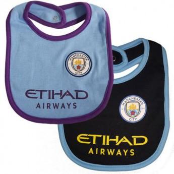 Manchester City dětský bryndák 2 Pack Bibs PL