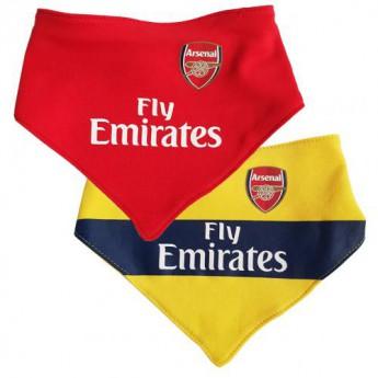 FC Arsenal dětský bryndák 2 Pack Bibs YL