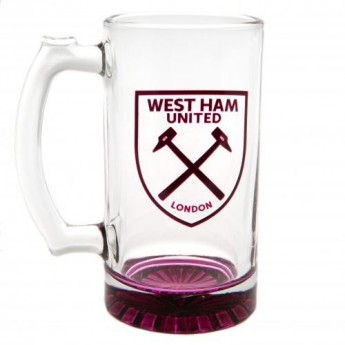 West Ham United sklenice Stein Glass Tankard