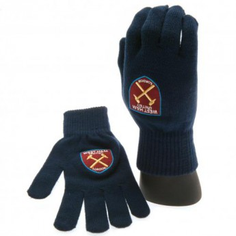 West Ham United pletené rukavice Knitted Gloves Adults