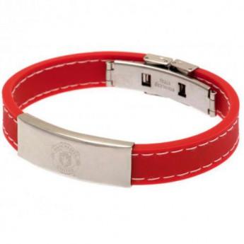 Manchester United silikonový náramek Stitched Silicone Bracelet RD