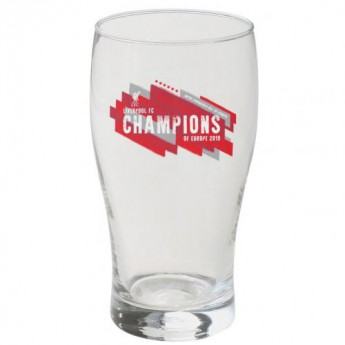 FC Liverpool sklenice Champions of Europe Tulip Pint Glass