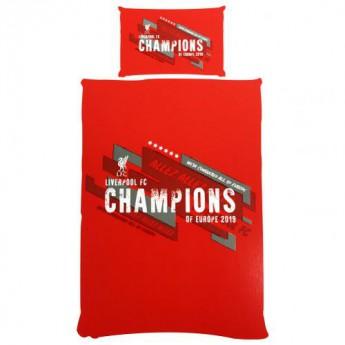FC Liverpool povlečení na jednu postel Champions of Europe Single Duvet Set
