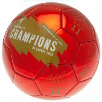 FC Liverpool fotbalový míč Champions Of Europe Football Signature - size 5