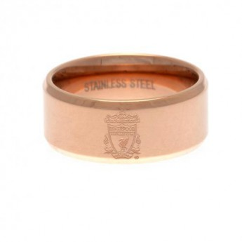 FC Liverpool prsten Rose Gold Plated Ring Small