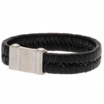 Fulham kožený náramek Plait Leather Bracelet