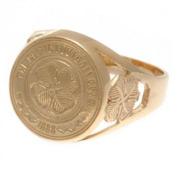 FC Celtic prsten 9ct Gold Crest Ring Large