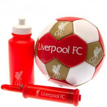 FC Liverpool fotbalový set water bottle - hand pump - size 3 ball