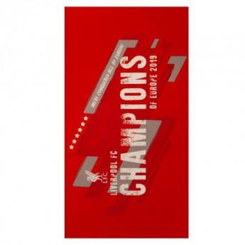 FC Liverpool osuška Champions of Europe Towel