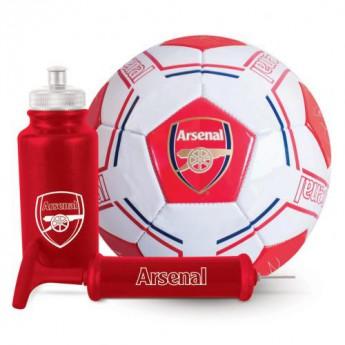 FC Arsenal fotbalový set water bottle - hand pump - size 5 ball