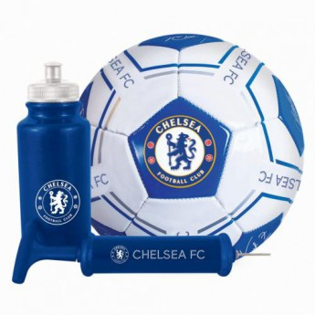 FC Chelsea fotbalový set water bottle - hand pump - size 5 ball