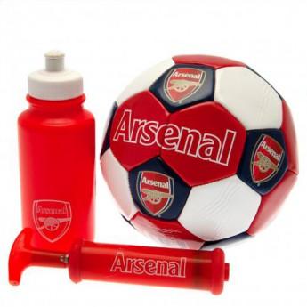 FC Arsenal fotbalový set water bottle - hand pump - size 3 ball