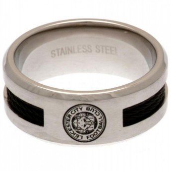 Leicester City prsten Black Inlay Ring Large