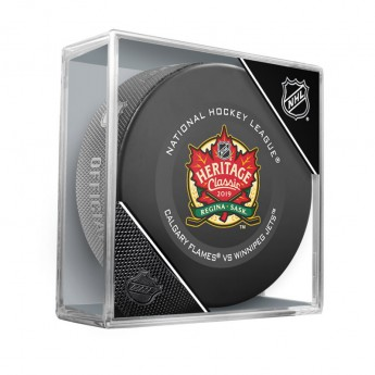 NHL produkty puk 2019 Heritage Classic Official Game Puck Winnipeg Jets vs. Calgary Flames