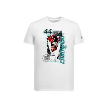 Mercedes AMG Petronas pánské tričko Champions Lewis Hamilton white F1 Team 2019