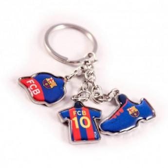 FC Barcelona přívěšek na klíče 3 Charm Keyring