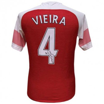 Legendy fotbalový dres Arsenal FC Vieira 2018-2019 Signed Shirt