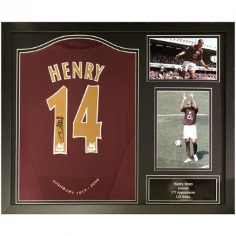 Legendy zarámovaný dres Arsenal FC Henry 2005-2006 Signed Shirt Redcurrant (Framed)