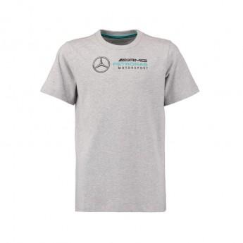 Mercedes AMG Petronas dětské tričko logo grey F1 Team 2019