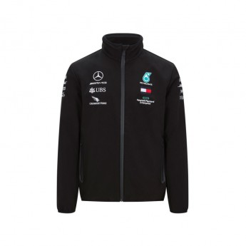Mercedes AMG Petronas pánská bunda softshell black F1 Team 2020
