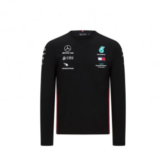 Mercedes AMG Petronas pánské tričko s dlouhým rukávem black F1 Team 2020