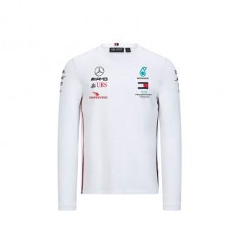 Mercedes AMG Petronas pánské tričko s dlouhým rukávem white F1 Team 2020