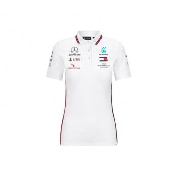 Mercedes AMG Petronas dámské polo tričko white F1 Team 2020