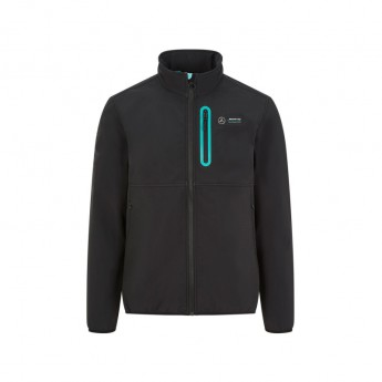 Mercedes AMG Petronas pánská bunda badge softshell black F1 Team 2020