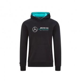 Mercedes AMG Petronas pánská mikina s kapucí logo hooded black F1 Team 2020