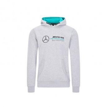 Mercedes AMG Petronas pánská mikina s kapucí logo hooded grey F1 Team 2020