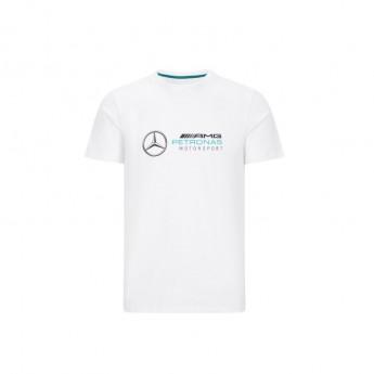 Mercedes AMG Petronas pánské tričko logo white F1 Team 2020