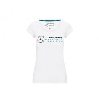 Mercedes AMG Petronas dámské tričko logo white F1 Team 2020