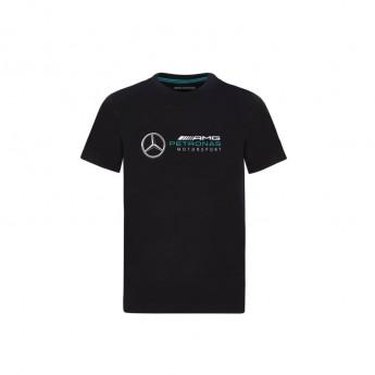 Mercedes AMG Petronas dětské tričko logo black F1 Team 2020