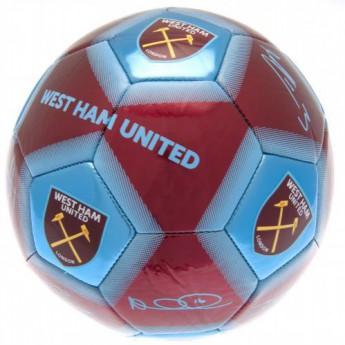 West Ham United fotbalový míč Football Signature WHM - size 5