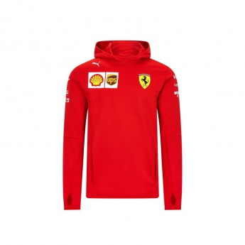 Ferrari pánská mikina s kapucí tech red F1 Team 2020