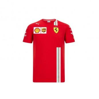 Ferrari pánské tričko Vettel red F1 Team 2020