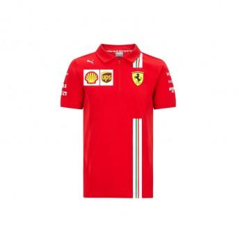 Ferrari dětské polo tričko red F1 Team 2020