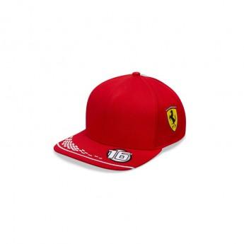 Ferrari čepice baseballová kšiltovka Leclerc red F1 Team 2020