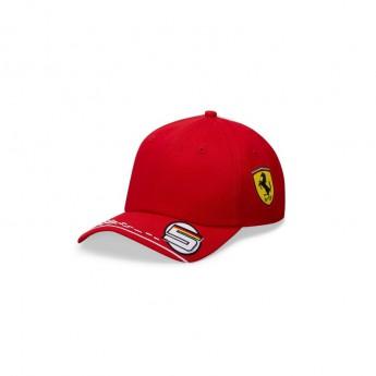 Ferrari čepice baseballová kšiltovka Vettel red F1 Team 2020
