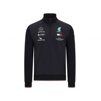 Mercedes AMG Petronas pánská mikina half zip black F1 Team 2020