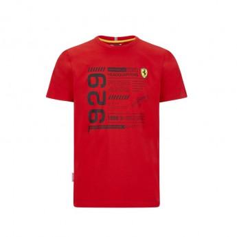 Ferrari pánské tričko infographic red F1 Team 2020