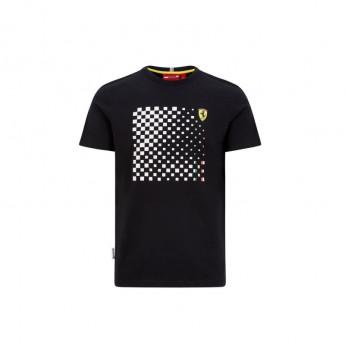Ferrari pánské tričko checkered black F1 Team 2020